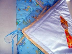 Manta de bebê, faça esta linda manta em patchwork !