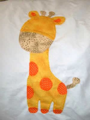 manta de bebe - girafinha