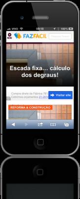 Site fazfácil no iPhone