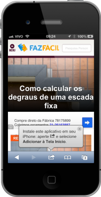 App que significa - Site do FazFácil no iPhone
