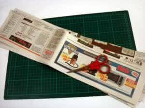 Cesto feito com papel jornal - os rolos ll