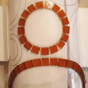 candelabro em mosaico desenho