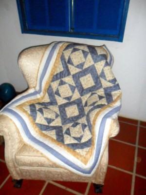 Manta patchwork em Mosaico!