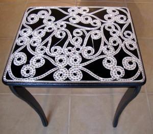 Mesa com tampo em mosaico muito chique. Veja como fazer!