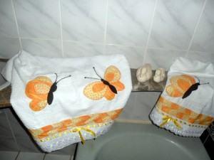 Jogo de Toalhas para lavabo ou banheiro em Patchwork