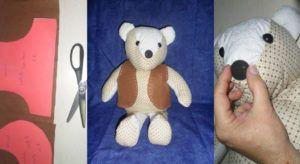 """Urso de Tecido: O Ursinho """"Carinhoso"""""""