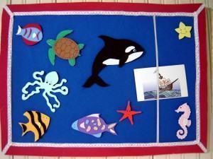 Mural infantil de feltro e EVA para o quarto das crianças!