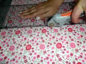 Almofada e manta corte
