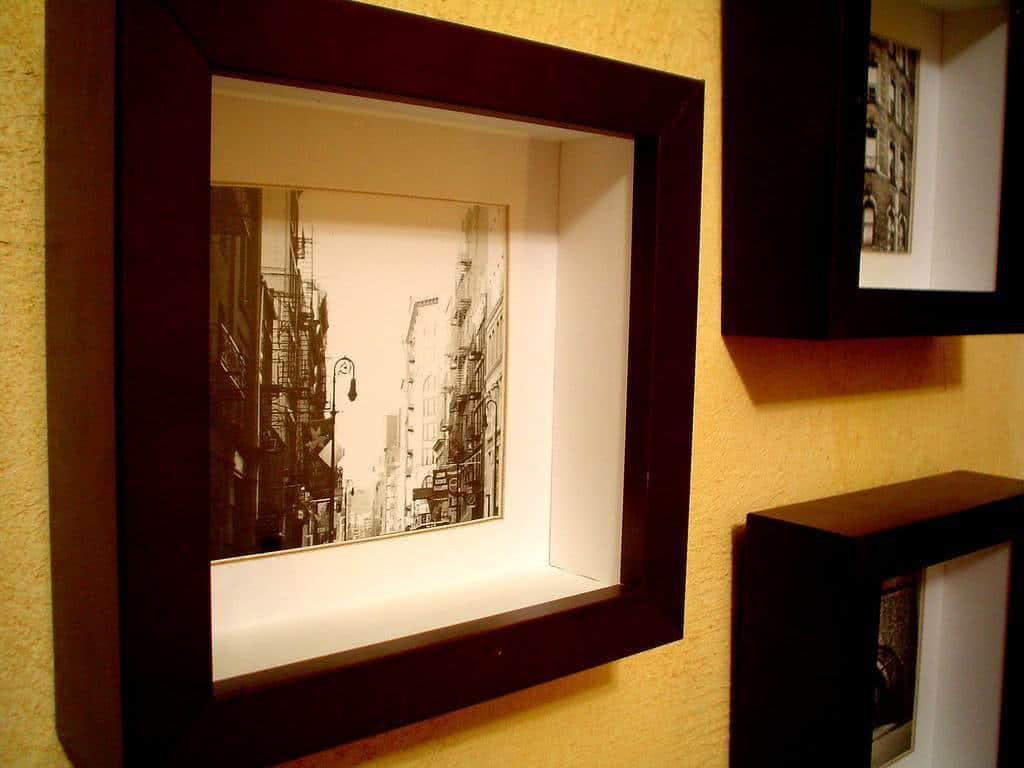 Como colocar quadros nas paredes p gina 2 de 2 fazf cil - Molduras modernas ...