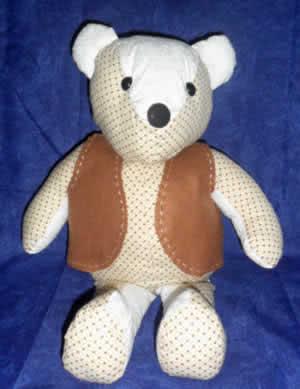 urso de tecido terminado