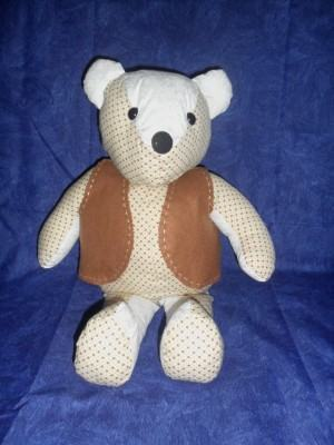 """Urso de tecido, o ursinho """"Carinhoso"""""""