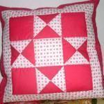 Almofada em patchwork, para decorar a sala ou quarto!