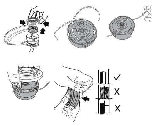 aparador de grama nylon