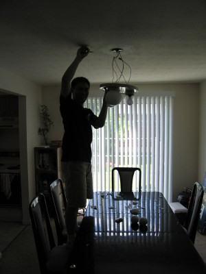 trocar uma lampada