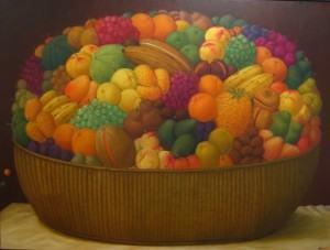 Canasta de Frutas by Fernando Botero