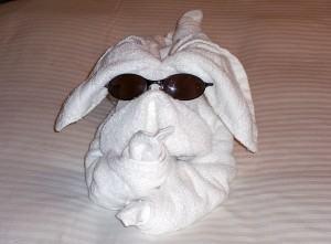 Origami de animais – decoração com toalhas,  Arraia!