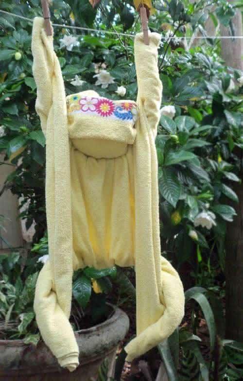 origami macaco toalha
