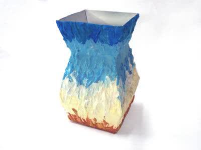Vaso reciclado de tetrapack