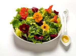capuchinha salada comestível
