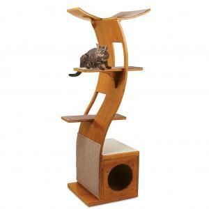 Como evitar que seu gato arranhe a mobília, torre para gatos