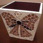 Cachepot de Mosaico com Laço e Arabescos