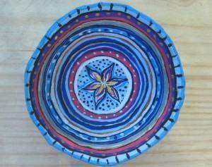 vasilha em papel mache