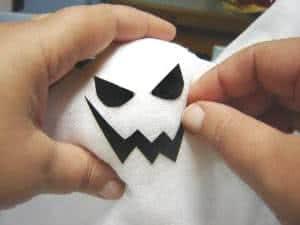 Como fazer Fantasmas de halloween - rostos