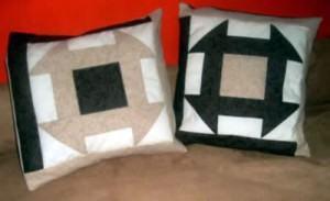 Almofada em patchwork para decorar a sala ou quarto!