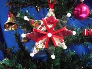 Estrela de Natal em Patchwork, decore ainda mais a árvore!