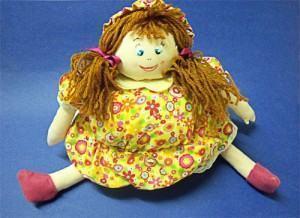 boneca porta-trecos