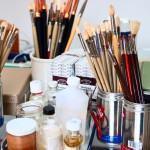 Pinceis usados para pintura em Modelismo e Aerografia