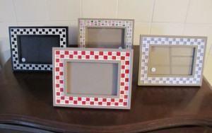 Porta-retrato em Mosaico xadrez. Veja como fazer o seu!