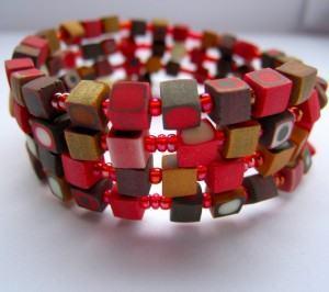 cerâmica plástica  - pulseira