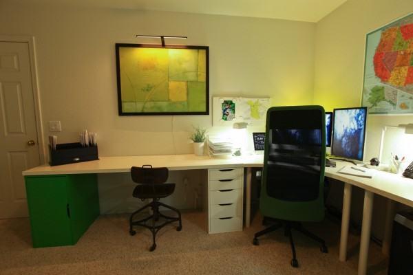 iluminação do escritorio