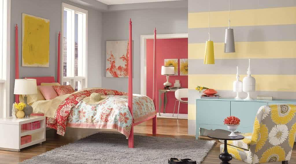 Decora o o quarto da adolescente fazf cil - Wandfarbe rosegold ...