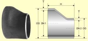 redução excentrica - tubulação