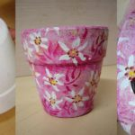 Vaso Esponjado com Tema Floral