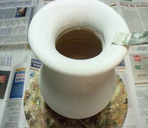 limpando o vaso