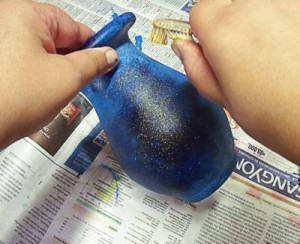 pátina lapis lazuli em vaso