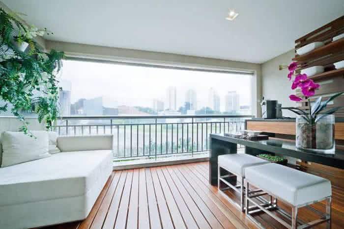 Dicas para decoraç u00e3o de varandas de apartamento FazFácil -> Decoração Para Varanda De Apartamento Simples