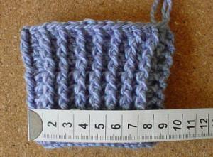 aumentando largura da luva crochet