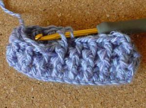 ponto alto no crochet pela frente
