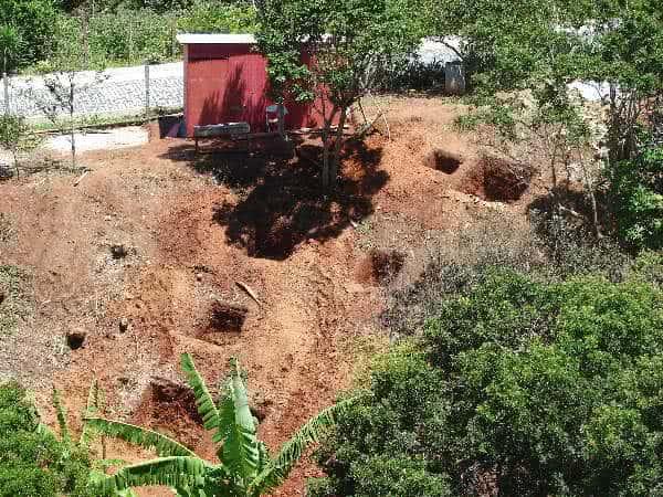 fundações buracos-sapatas