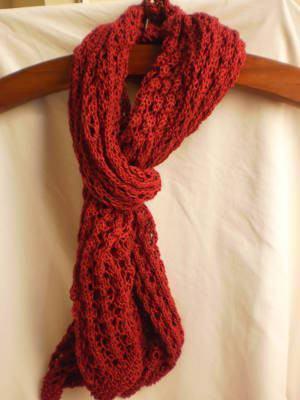 tricot de xale rendado