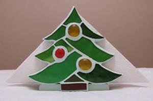 Porta-Guardanapo em Mosaico para o Natal