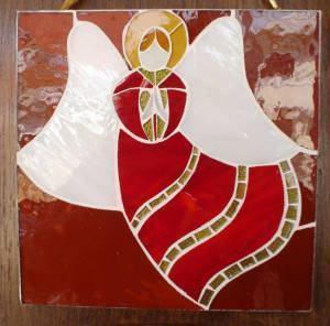 Anjo de Natal em Mosaico