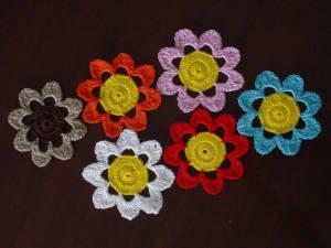 Porta-Copos Floral de Crochê