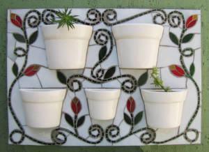 Como Fazer uma Jardineira com Mosaico