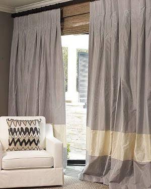 cortina de shantung