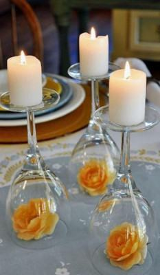 velas taças invertidas